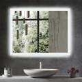 DECORAPORT 36 x 28 Inch LED Bathroom Mirror/Dress Mirror with Infrared Sensor Control, Anti-Fog, Vertical & Horizontal Mount (NG13-3628)