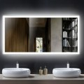 DECORAPORT 55 x 28 Inch LED Bathroom Mirror with Touch Button, Anti Fog, Dimmable, Vertical & Horizontal Mount (D106-5528)