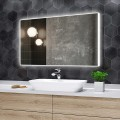 DECORAPORT 48 x 28 Inch LED Bathroom Mirror with Touch Button, Bluetooth Speaker, Tri-Color Lights, Anti-fog, Dimmable, Vertical Mount(D415-4828AB)