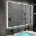 DECORAPORT 28 x 20 Inch LED Bathroom Mirror with Touch Button, Tri-Color Lights, Anti-fog, Dimmable, Vertical Mount(D416-2820B)
