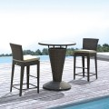 PE Rattan 3 Pieces Dining Set: 1 * Dining Table, 2 * Armless Chair (LLS-6150+1150)