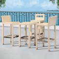 PE Rattan 4 Pieces Dining Set: 1 * Dining Table, 3 * Chair (LLS-6151+1151)