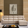 White Recliner Sectional Sofa in Leather with Right-facing Chaise (LH-EA905-1)