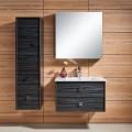 31 In. Wall-Mount Bathroom Vanity Set, Single Sink and Mirror (DK-656800)