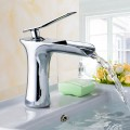 Basin&Sink Waterfall Faucet - Brass with Chrome Finish (81H36-CHR-005)