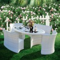 5 Pieces Dining Set: 1 * Dining Table, 2 * Armless Chair, 2 * Armless Long Chair (JMS-7061)