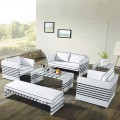 Wicker Patio Seating Set with Cushion Insert (JMS-9660)