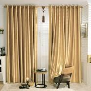 """Gold Blackout Grommet Curtain Panel, 42"""" W x 84"""" L (DK-GT001)"""