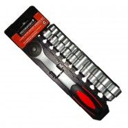 11 Pieces Socket Wrench Set, 1/2 Inch (TK-051)