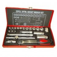22pcs Socket Wrench Set, 3/8 Inch (TK-008)