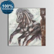 100% Hand Painted Abstract Steed Oil Painting (DK-JX-YH03)
