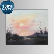 100% Hand Painted Abstract Landscape Oil Painting (DK-JX-YH060)