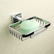 Wall-Mounted Soap Holder - Chrome Brass (80859)