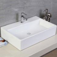 Decoraport White Rectangle Ceramic Above Counter Basin (CL-1099)