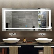 71 x 32 In Horizontal LED Bathroom Mirror, Touch Button (DK-OD-CK010-A)