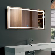 40 x 24 In Horizontal LED Bathroom Mirror, Touch Button (DK-OD-CK010-G)