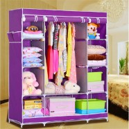 Portable Wardrobe Closet Storage Organizer with Shelving (DK-WF1610-2)