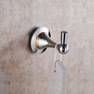 Single Robe Hook - Chrome Brass (80353)