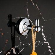 Single Robe Hook - Chrome Brass (80653)