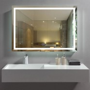 40 x 28 In Horizontal LED Bathroom Mirror with Anti-fog Function (DK-OD-CK010-W4)
