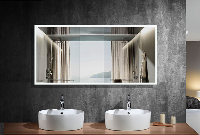 vanity mirror 36 x 60. 84 x 40 in. horizontal led mirror with touch button (dk-od- vanity 36 60 3