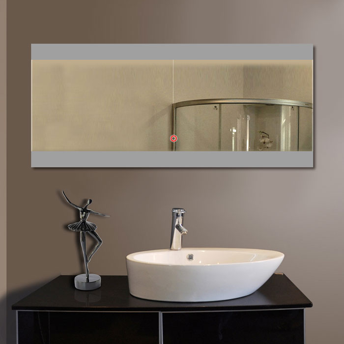 80 x 36 in horizontal led mirror with touch button dk od for Mirror 80 x 50