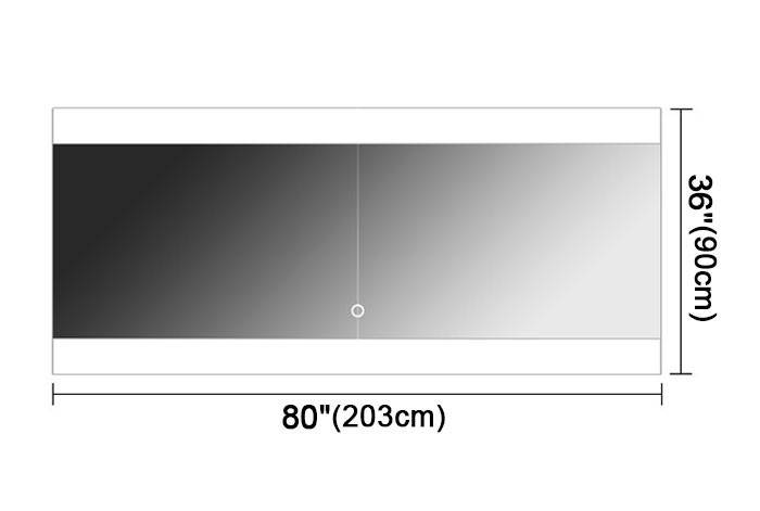 Ove Decors Villon Led Bathroom Mirror: 80 X 36 In Horizontal LED Bathroom Mirror, Touch Button