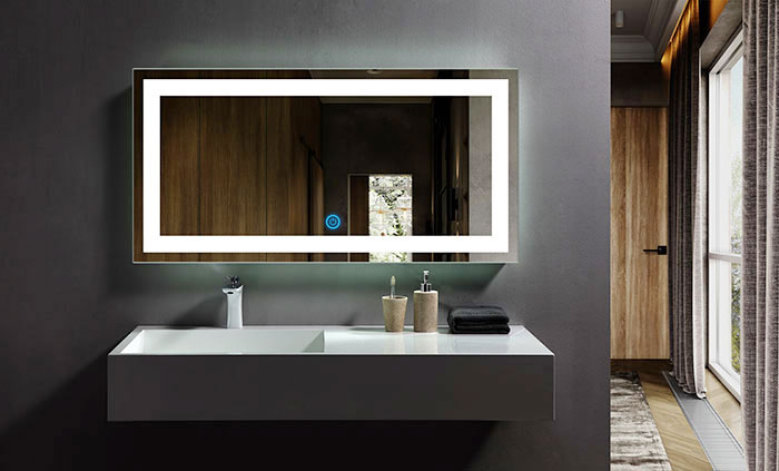 Ove Decors Villon Led Bathroom Mirror: 48 X 24 In Horizontal LED Bathroom Mirror, Touch Button