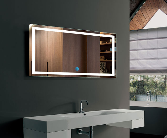 Ove Decors Villon Led Bathroom Mirror: 40 X 24 In Horizontal LED Bathroom Mirror, Touch Button