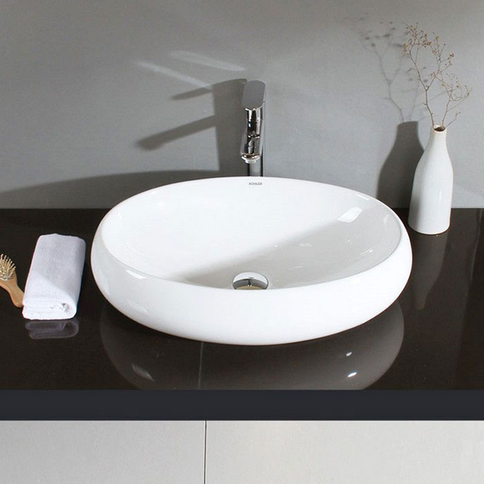Decoraport Oval Ceramic Above Counter Basin Cl 1001