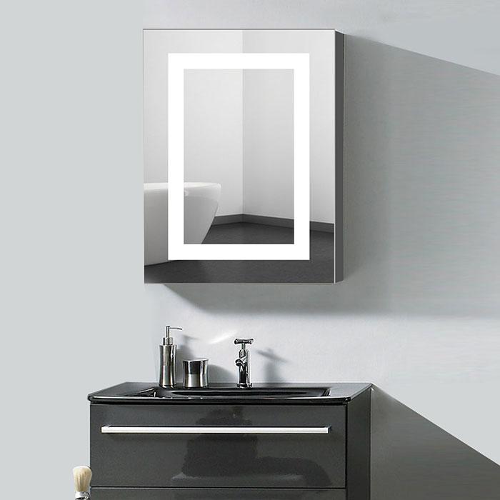Beautiful White Bathroom Mirror Cabinet