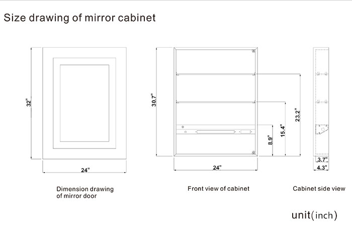 LED Mirror Cabinet