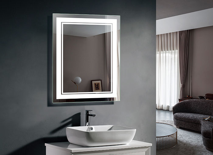 Lighted Mirror Bathroom Buy Bathroom Led Lighted Mirrors Backlit Mirrors Decoraport Usa Led: 28 X 36 In LED Bathroom Mirror With Infrared Sensor (DK-OD