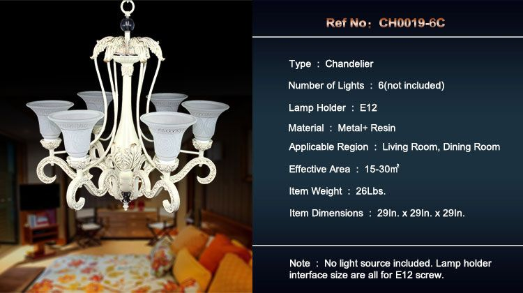 Light Metal Resin Built Chandelierdiameter  Inch Ch C